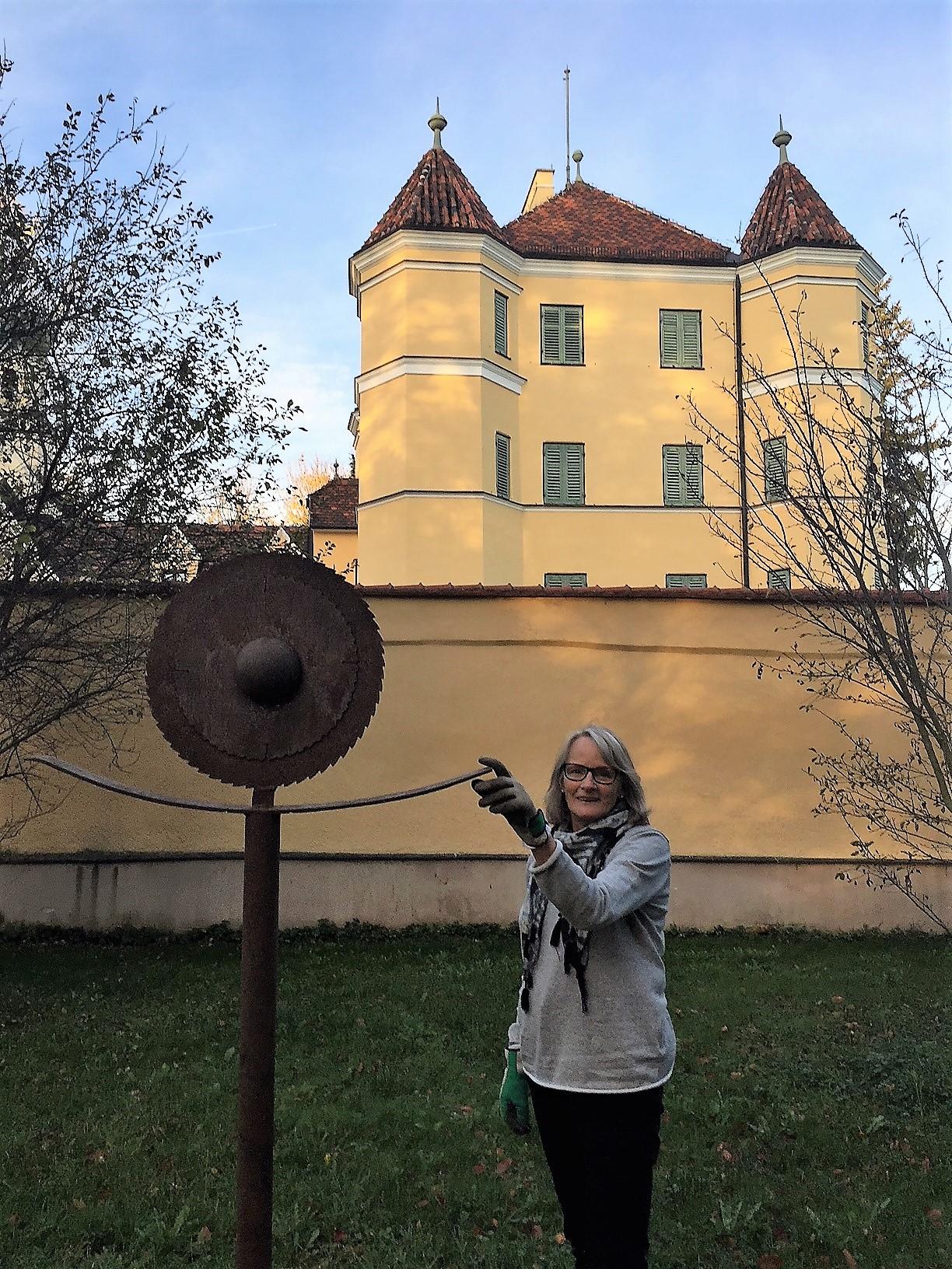 Sonnenanbeter im Schlosspark Garatshausen  ca 200cm metall
