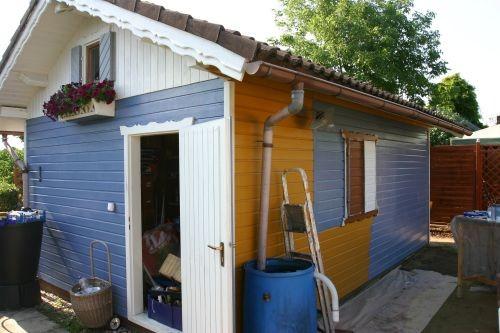 Gartenhaus friesenblau  Die neue Hausfarbe - GARTENWEDLERS