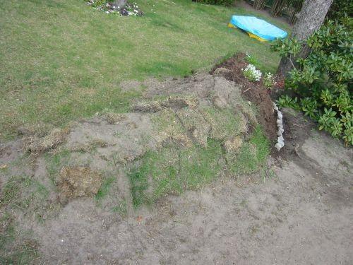 Zuerst von den Gartennachbarn als Grabstelle belächelt - der Pflanzhügel