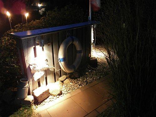 Mit der neuen Beleuchtung findet man auch Nachts gut den Weg in den Nautic-Bereich