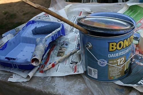 Wir haben uns für die BONDEX Dauerschutzfarbe entschieden mit bis zu 12 Jahren Farbgarantie