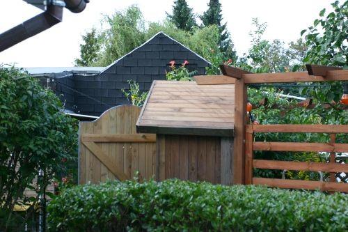 Seitenblick von der Terrasse