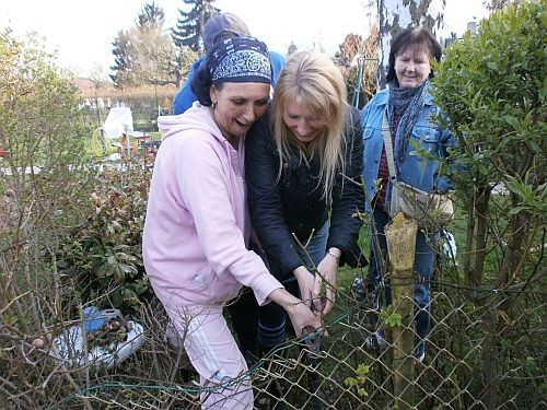 Am 14. Apri 2012 entschlossen wir uns dort unseren Zaun zu öffnen