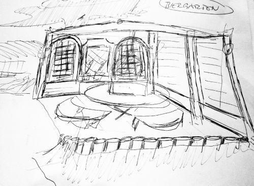 Planungsphase: so sollte die Weinschnecke später aussehen