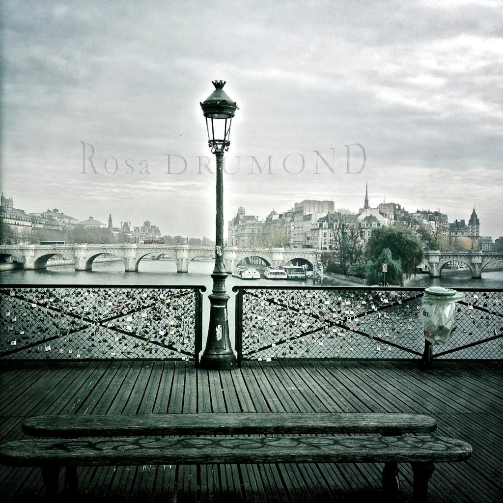 Crépuscule au pont des arts