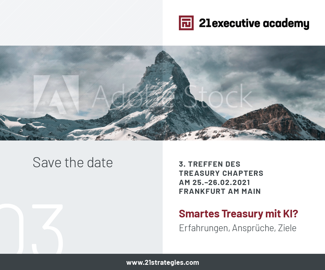 It's on! 3. Treasury Chapter Meeting on 26.02.2021 in Frankfurt