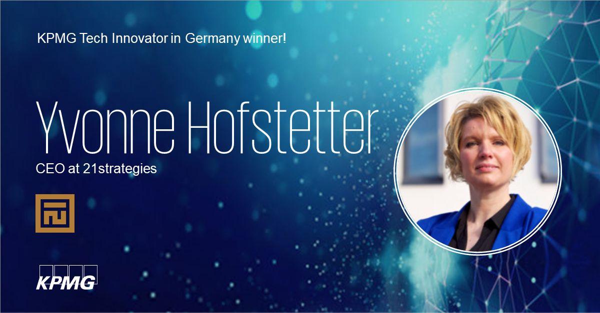 "KPMG has voted: 21strategies is ""Tech Innovator in Germany"" winner 2021"