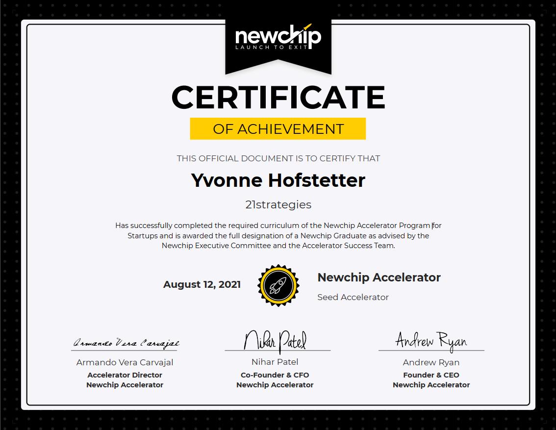 Done! Newchip Alumni after a six-months effort