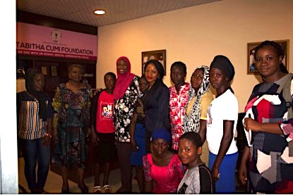 Young BPW Members with National President and School Girls being Sponsored