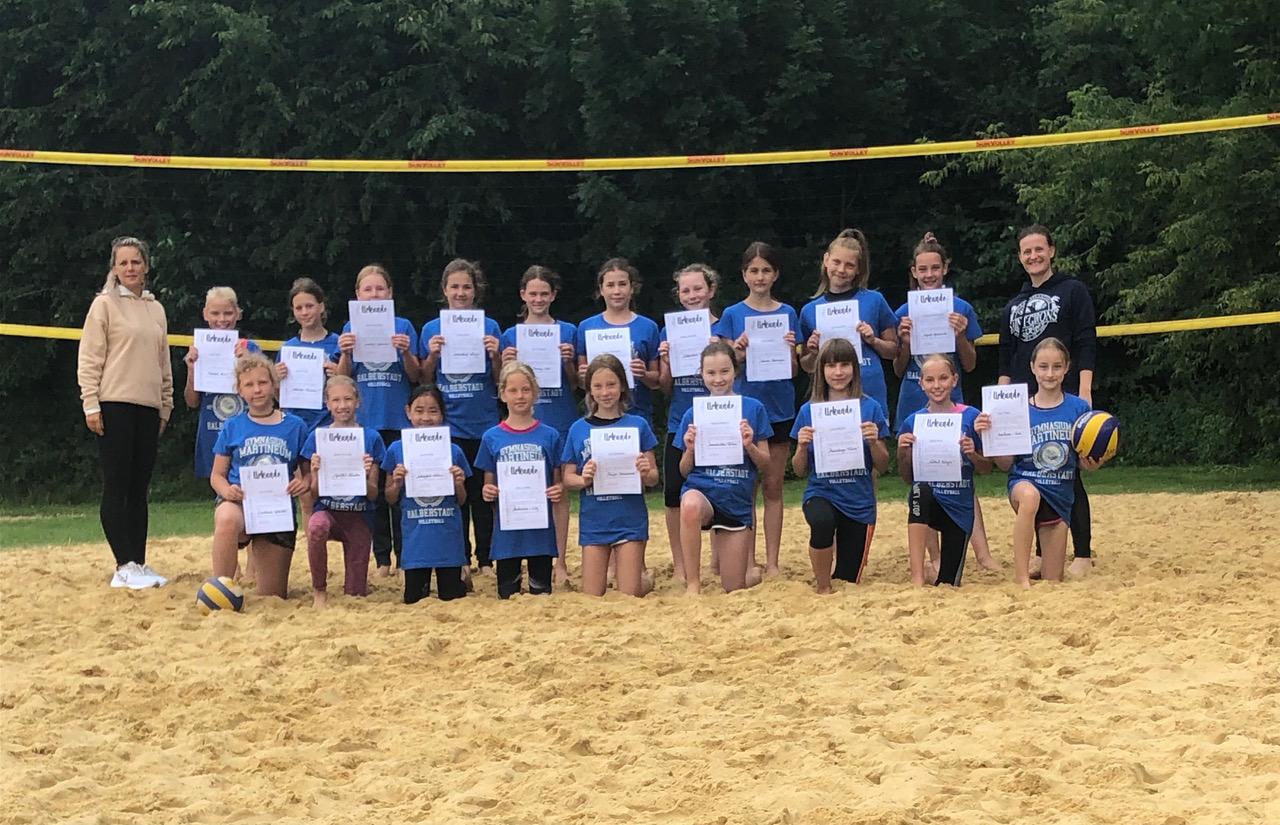 Volleyballer-Nachwuchs des Martineums im Trainingslager