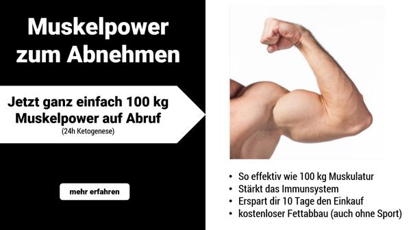 Vegisan so effektiv wie 100kg Muskulatur.