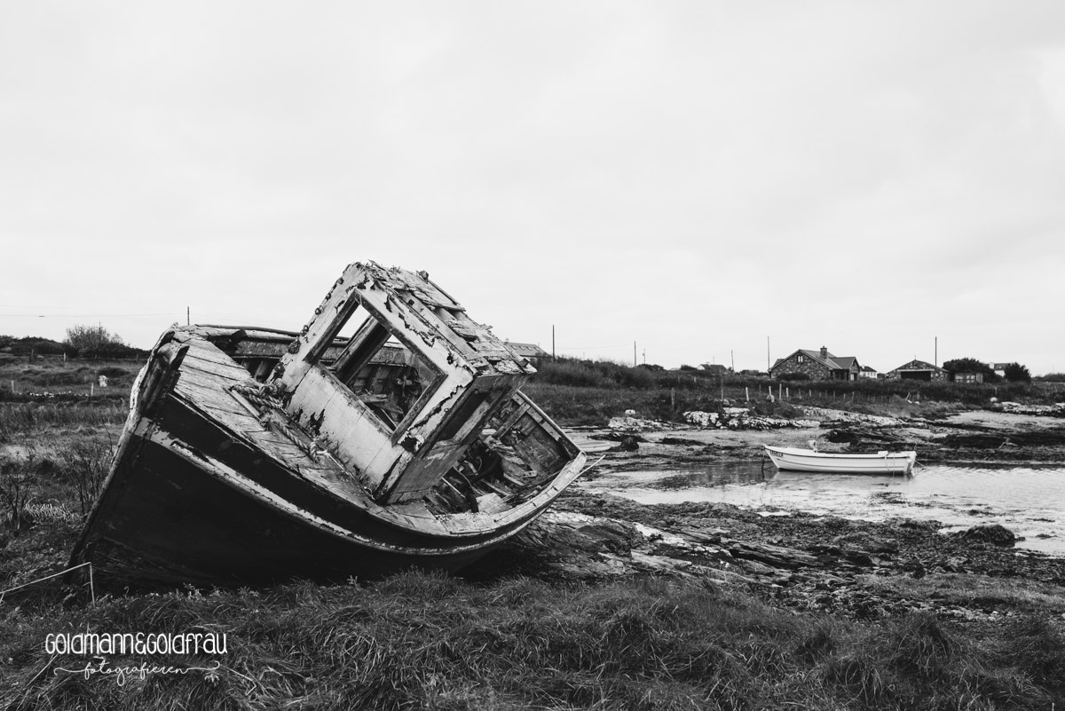 Schiffswrack in Connemara