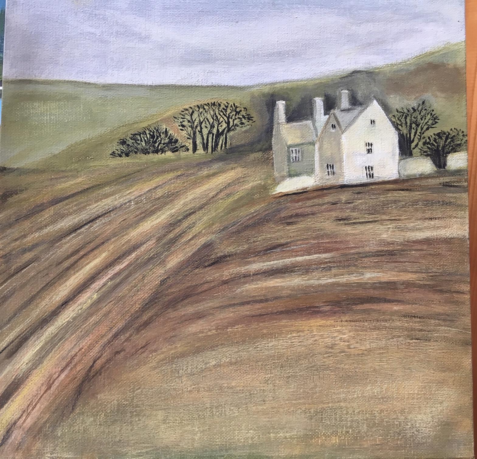 Englisches Landhaus (nach einem Aquarell)