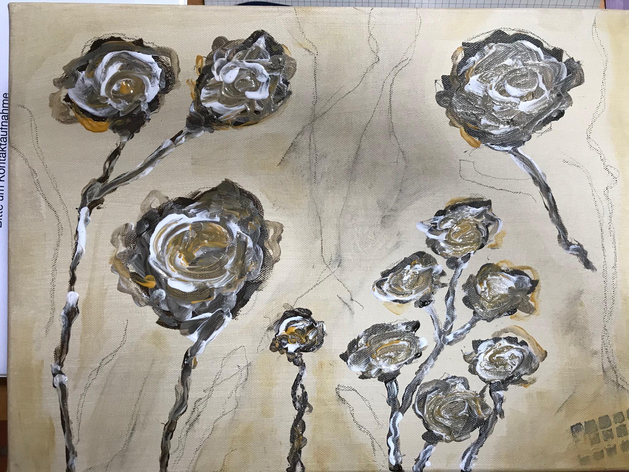 Rosen abstrakt  (nach Vorlage aus dem Internet)