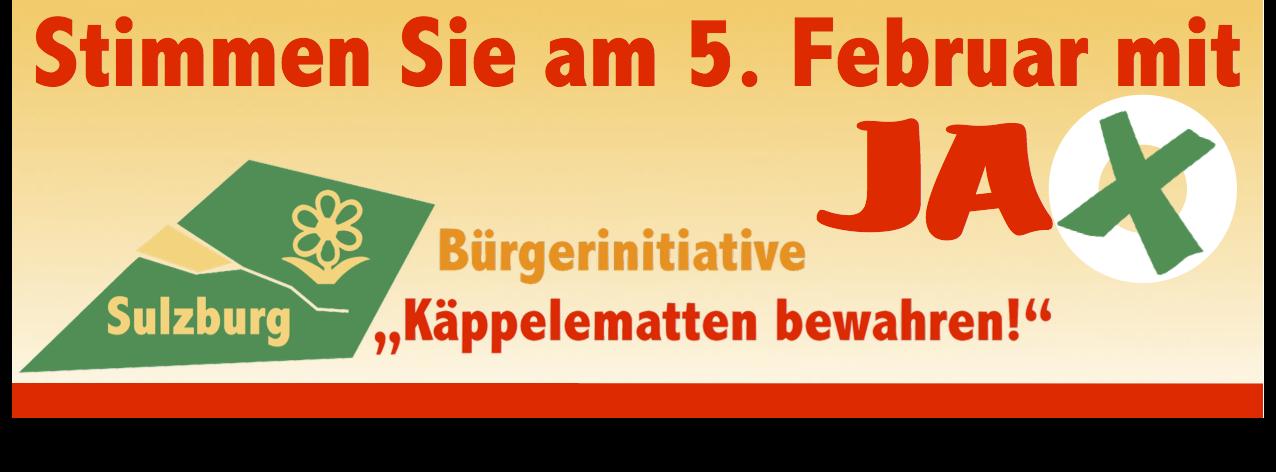 Anzeige Bürgerinitiative (Kampagne, diverse Texte und Prints)
