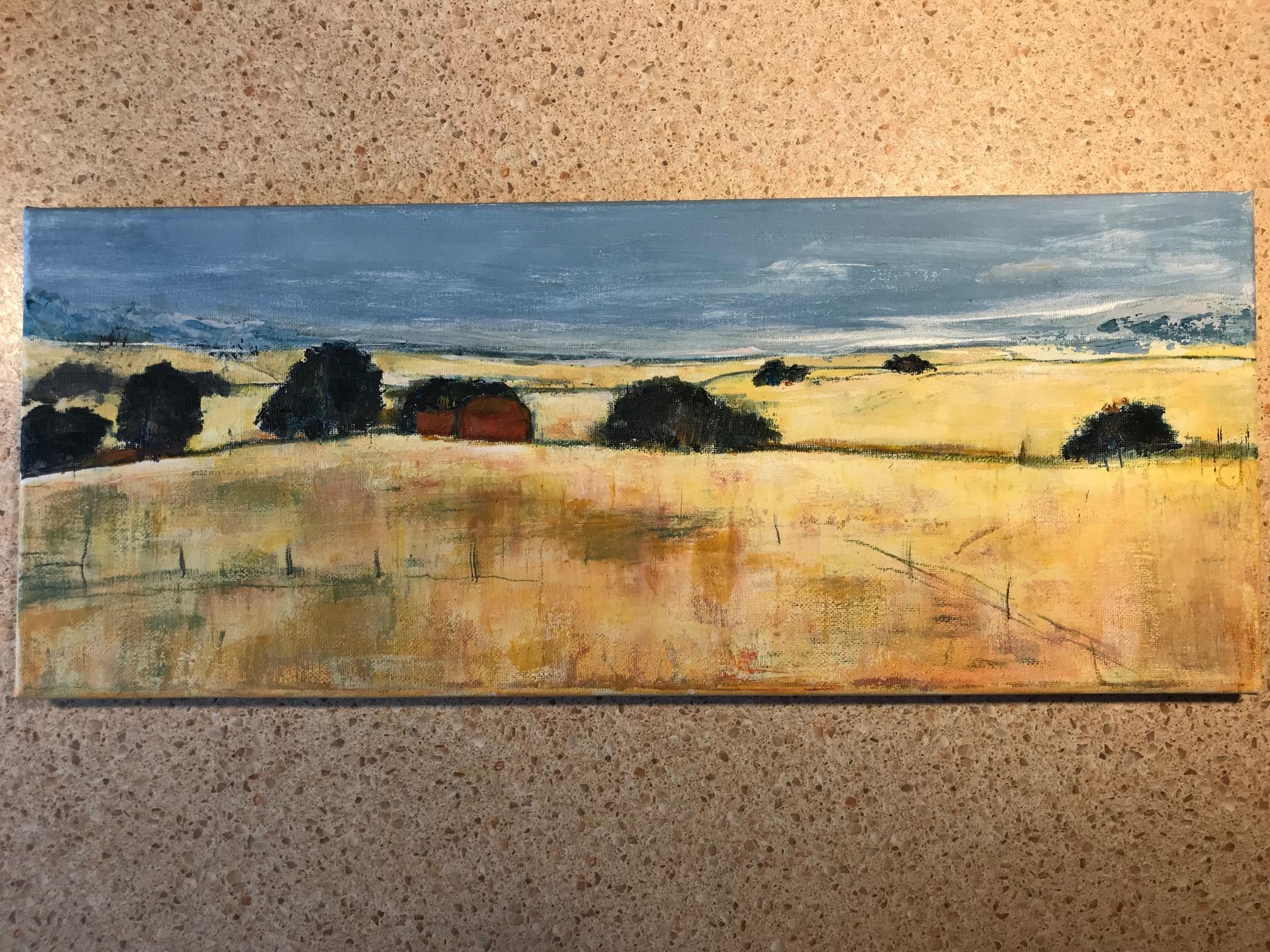 Landschaft abstrakt  (nach Vorlage aus dem Internet)