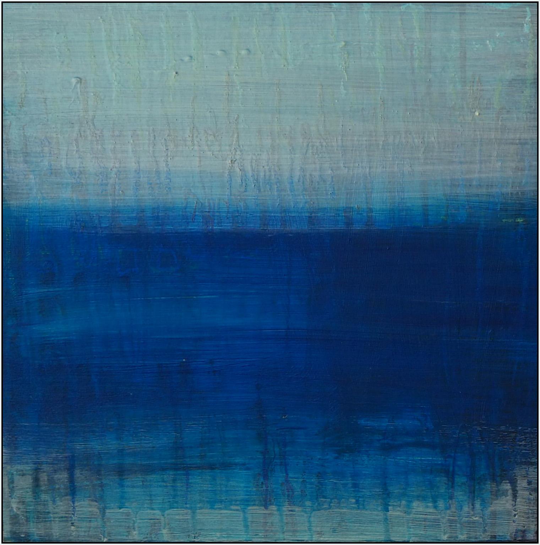 blue glamour 1  acryl on wood  30 cm / 30 cm