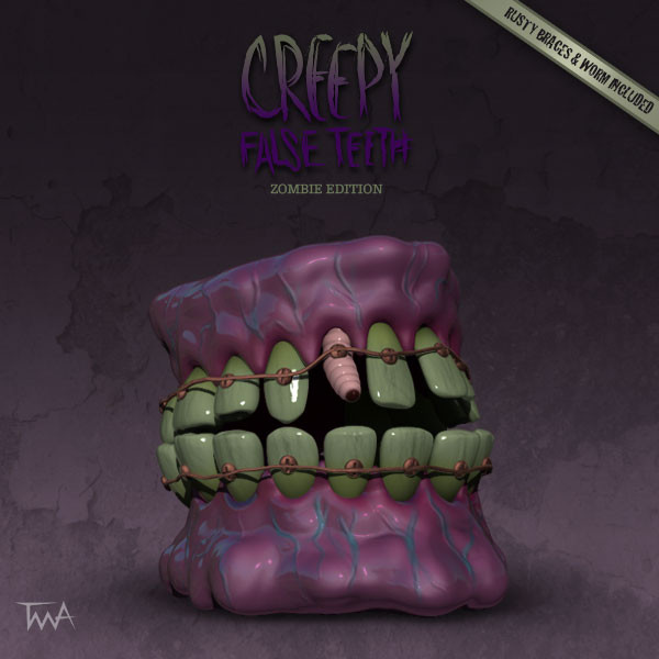 Creepy False Teeth - Zombie edition