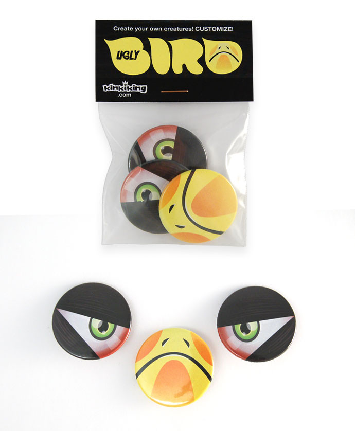 Ugly Bird badge pack