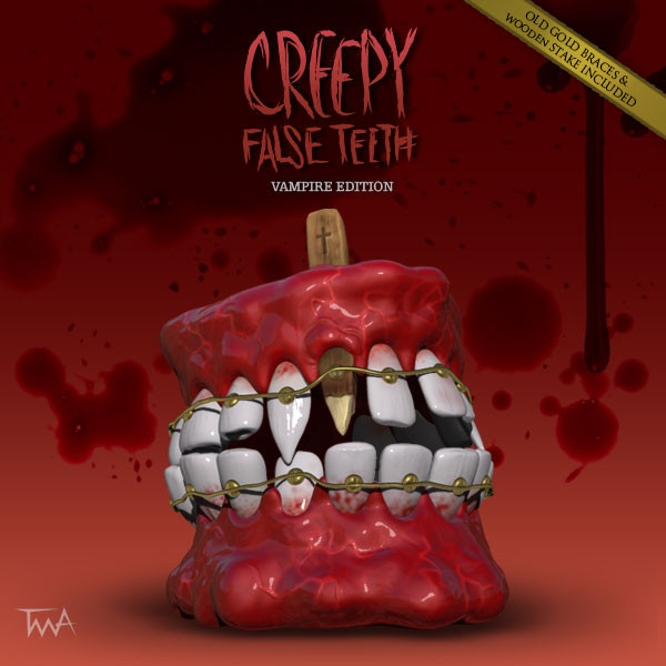 Creepy False Teeth - Dracula edition