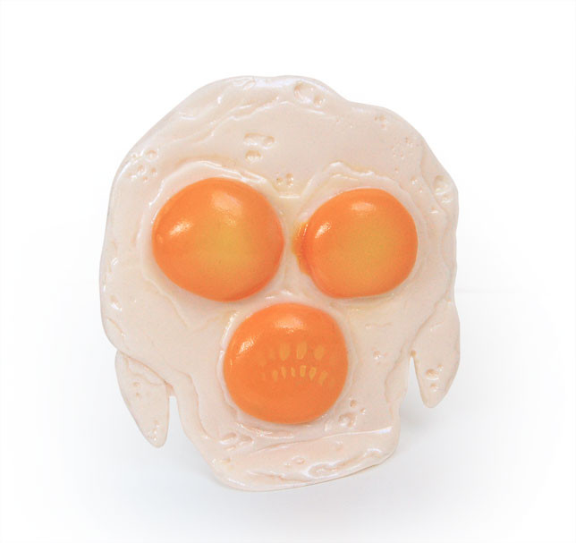 Fried Egggon resin toy