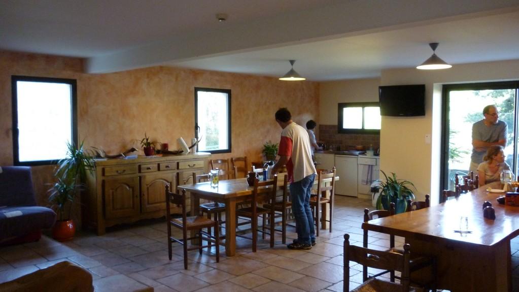 La salle à manger du gîte Le Gévaudant