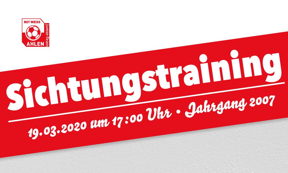 Rot Weiss Ahlen Sichtungstraining Jahrgang 2007
