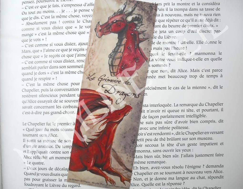 Marque-page en M/étal Motif Koinobori Rouge