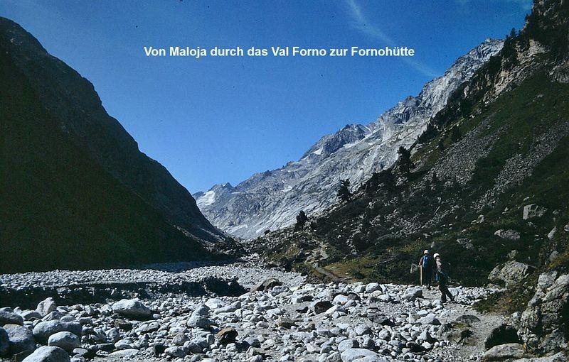 Foto von 1986: Am Weg ins Val Forno