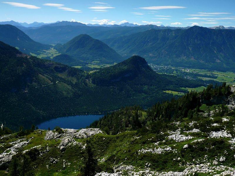 Beim Bergrestaurant Loseralm - Blick über Altausseer See