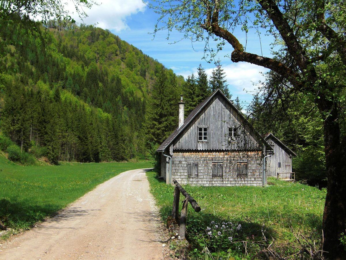 Almhütte am Wanderweg in der Welchau