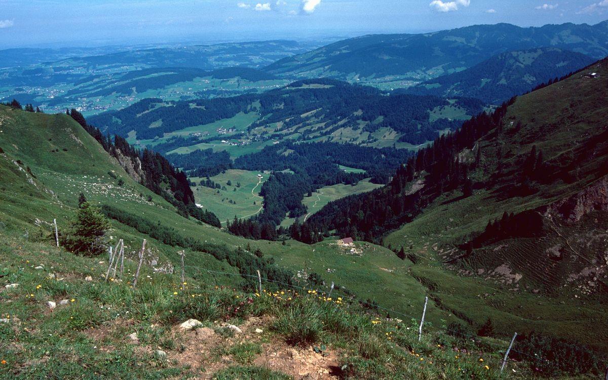 Tristenalp in der Einsattelung zwischen Niedere und Tristenkopf