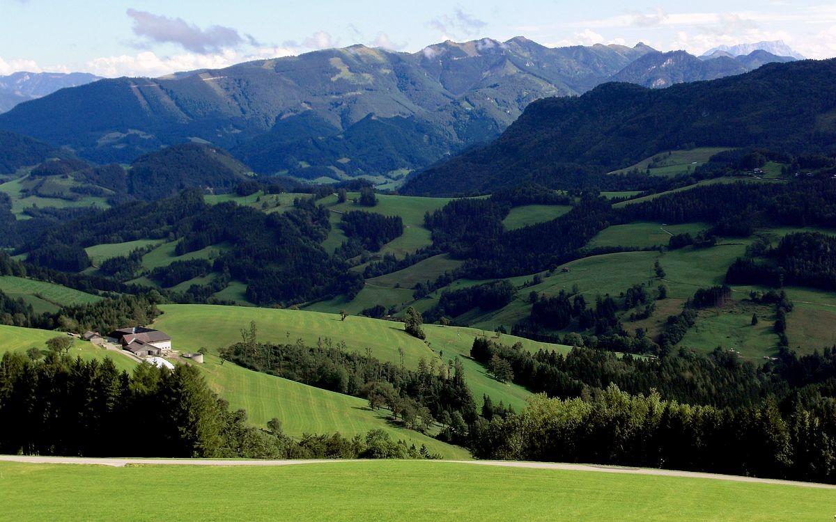 Rabenreihtkogel und Almkogelgebiet im Süden