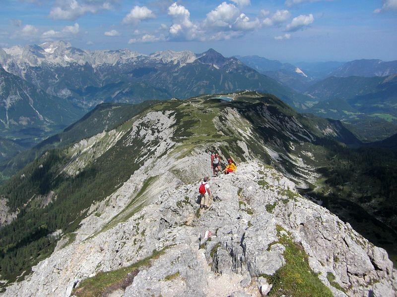 Schafkögel und Totes Gebirge vom Hans Rubenzucker Steig