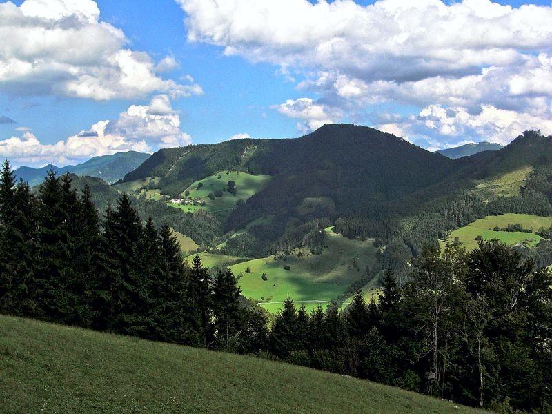 Ausblick vom Weg auf den Großrabenreithkogel