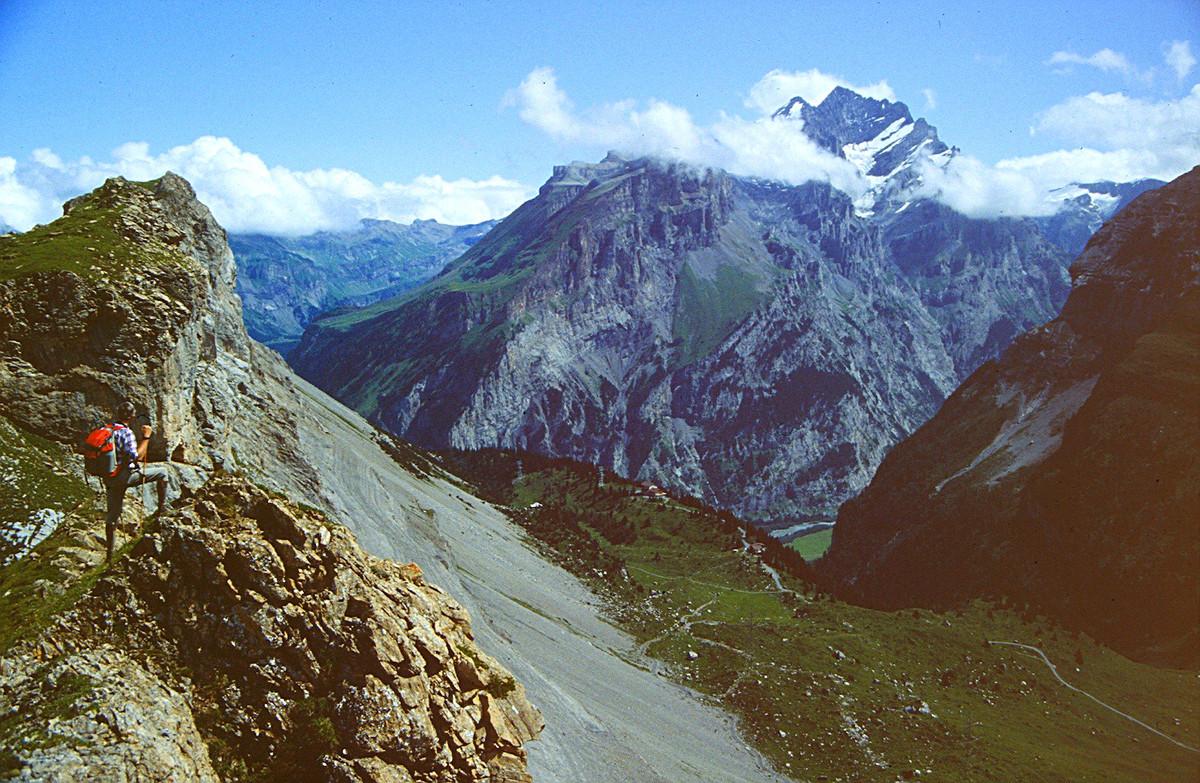 Blick vom Üschinengrat auf Spittelmatte und Doldenhorn