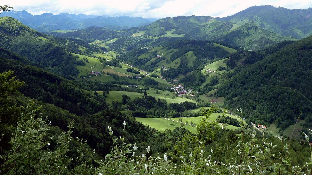 Der Lumplgraben und das Reichraminger Hintergebirge im Nationalpark Kalkalpen