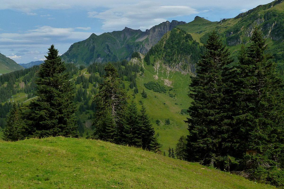 Klipperen und das Skigebiet bei der Roßstelle im Sommer