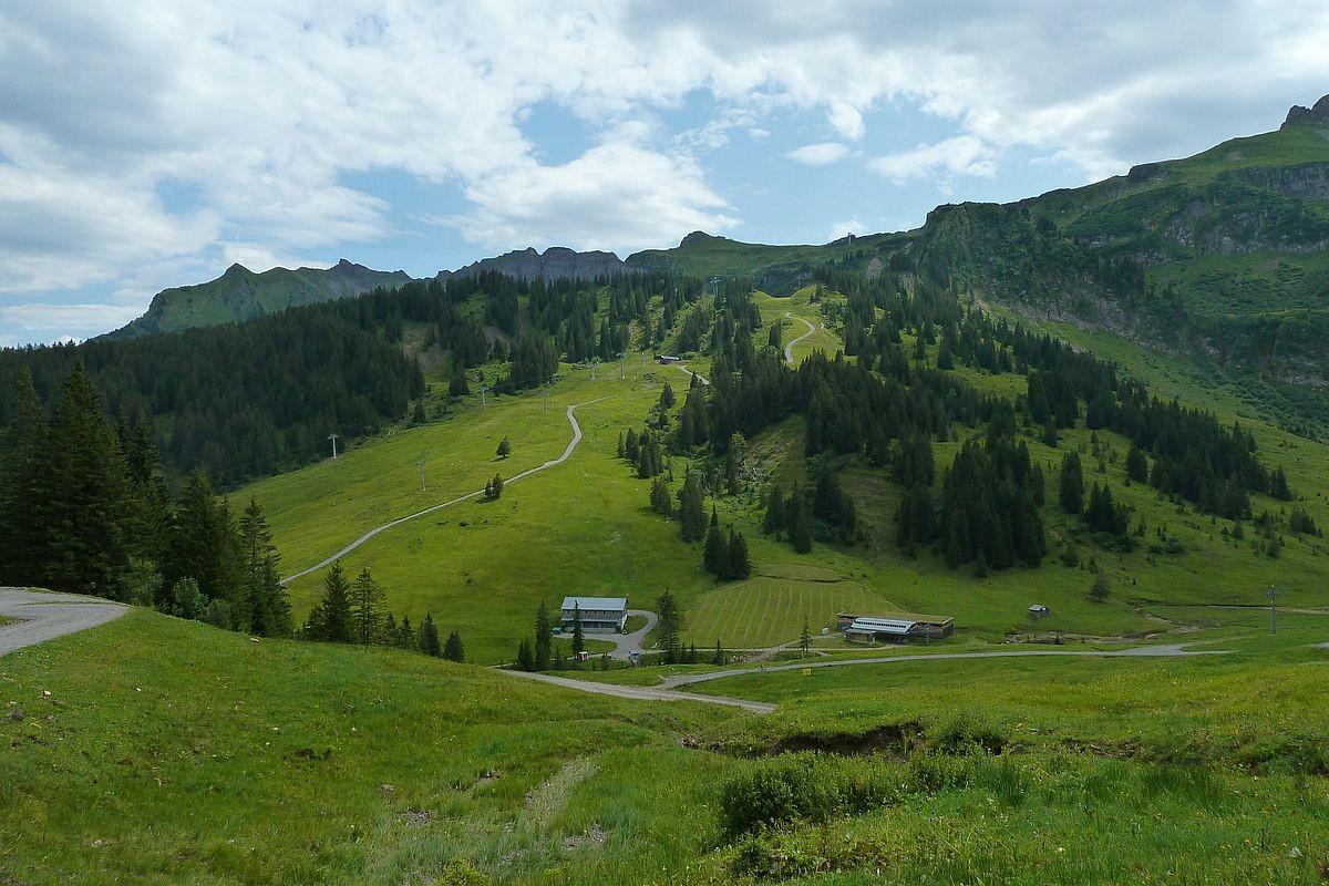 Das Skigebiet der Seilbahnen Mellau bei der Roßstelle