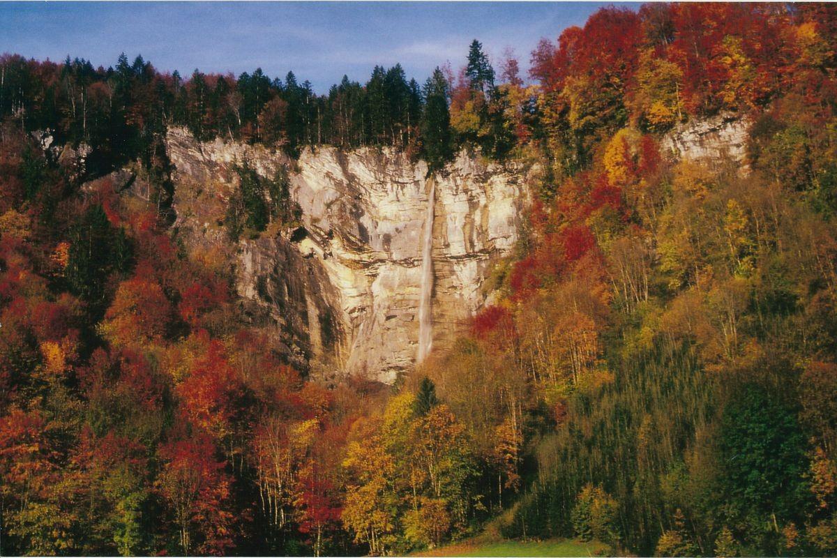 Der hohe Wasserfall bei Klaus