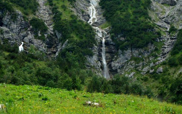 Wasserfall auf dem Gebiet der Gadenalpe