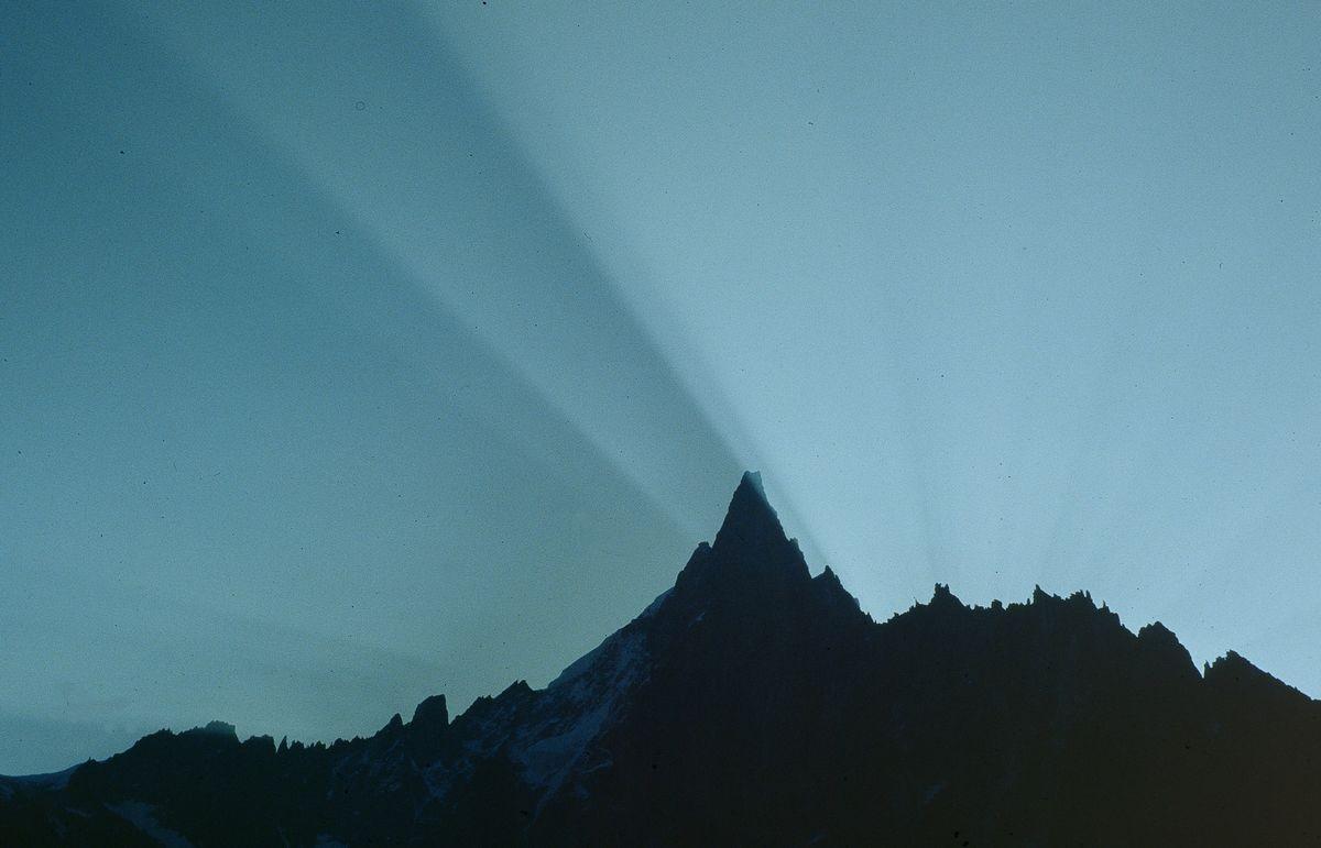 Sonnenaufgang an der Aguille Verte / Dru