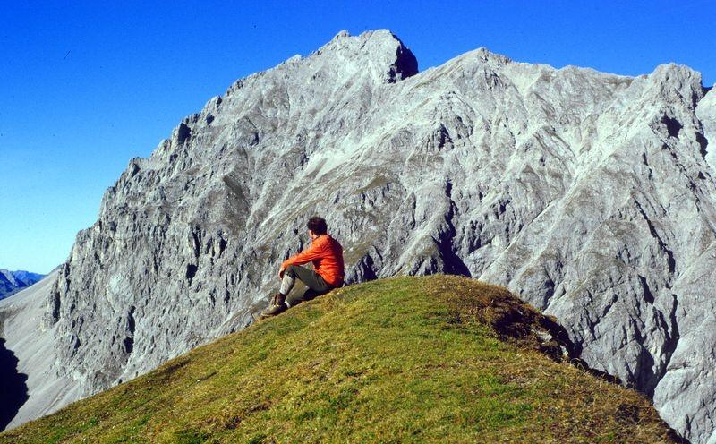 Der Grünstein (2601 m) in der Mieminger Kette von der Wankspitze