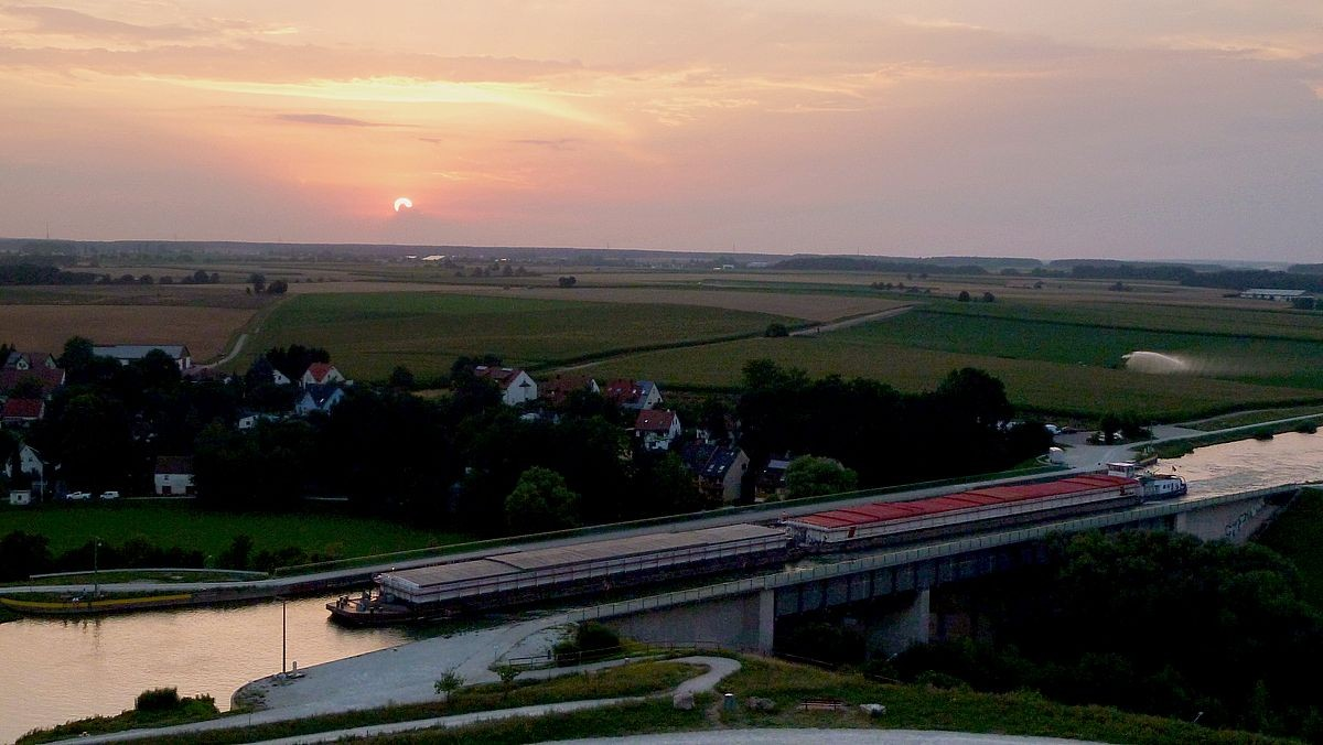 Abendstimmung mit Sonnenuntergang vomn Fürther Solarberg