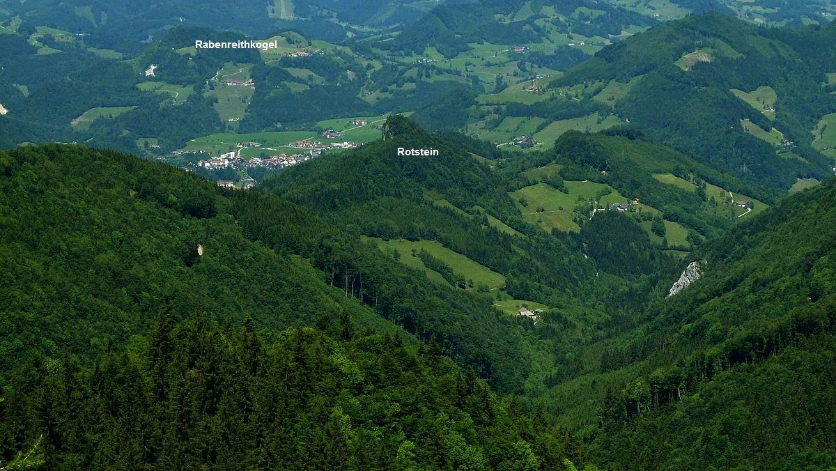 Großraming und Rotstein von Steig zur Ennser Hütte