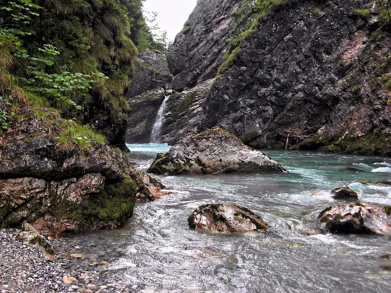 Steyr unterhalb des Stromboding-Wasserfalls
