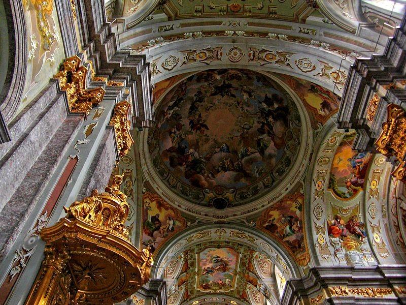 Großes Deckengemälde in der Basilika Sonntagberg