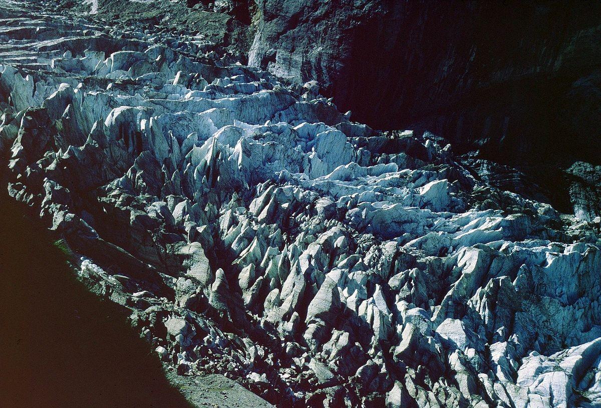 Zerklüfteter Oberer Grindelwaldgletscher vom Weg zur Glecksteinhütte