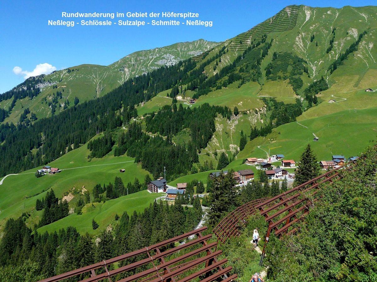 Neßlegg und das Gebiet am Höferberg unter der Höferspitze