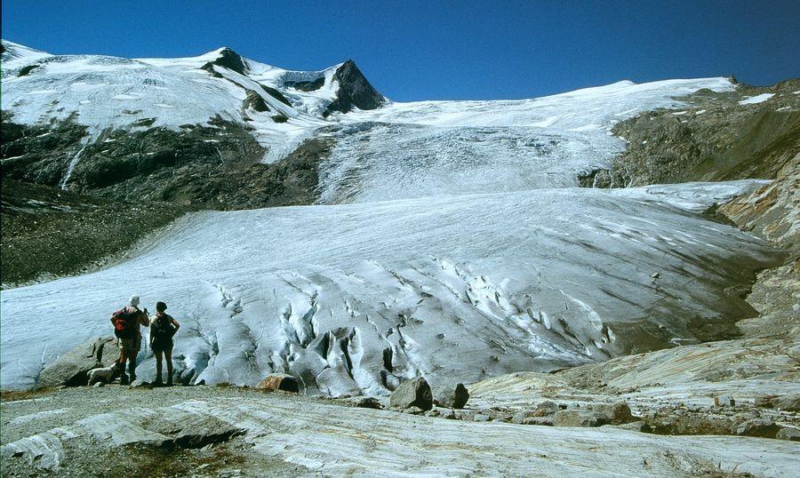 Foto mit Minolta X 500 - Dia-Scan: Schlatenkees vom Gletscherweg Innergschlöß